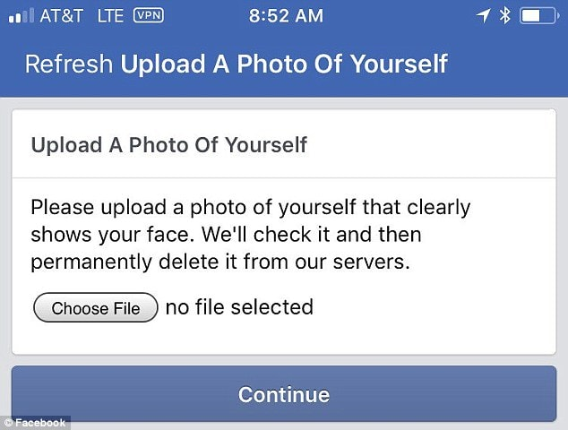 facebook photo verification check image