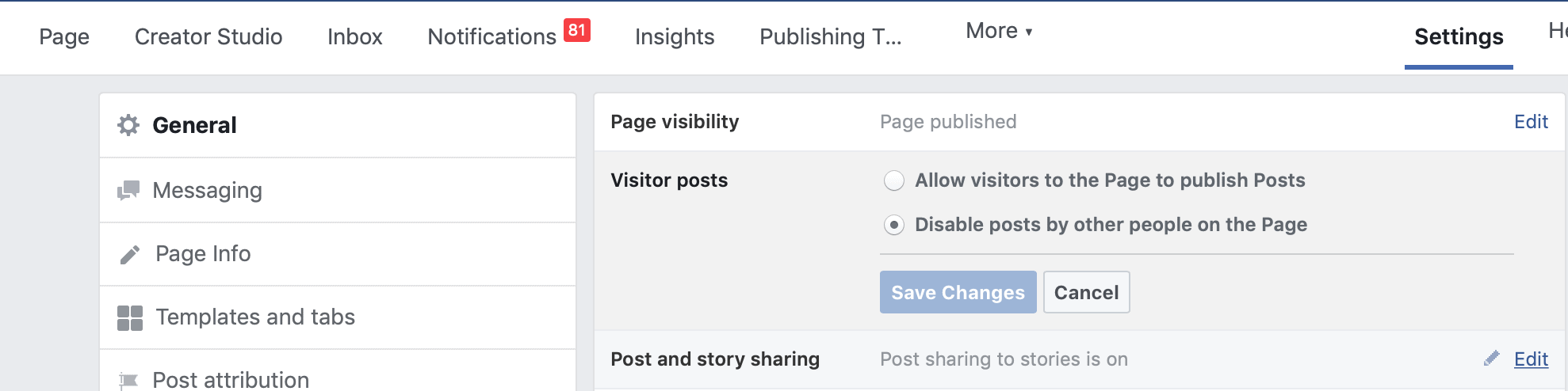 Hide Community Tab On Your Facebook Page