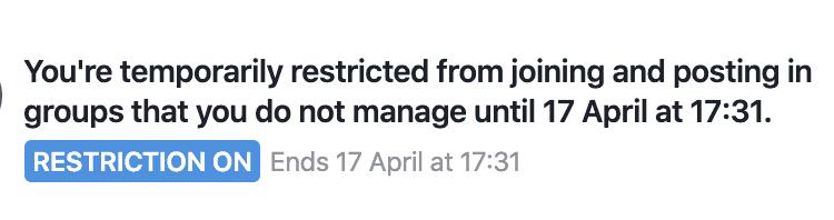 facebook group restriction