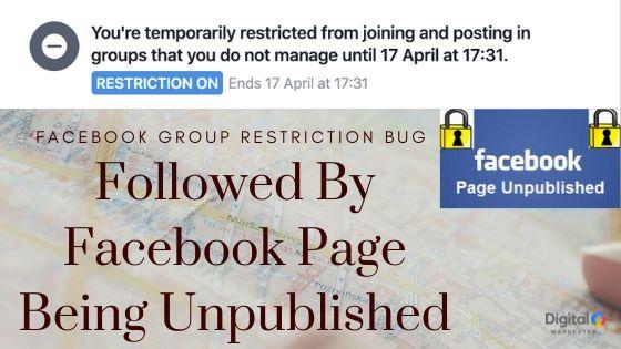 facebook page unpublished
